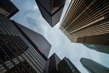 Canadian Toronto City Amazing Skyscrapers Perspective