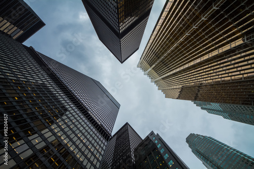 Photo  Canadian Toronto city amazing skyscrapers perspective