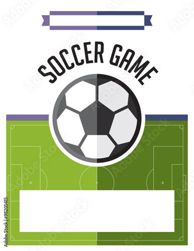 Photo  Soccer Football Game Flyer Illustration
