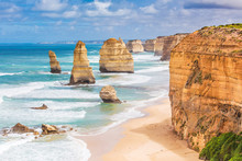Twelve Apostles Rocks On  Grea...
