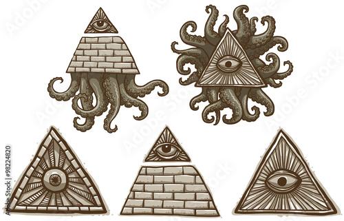 Fotografija  Vector Set of Masonic symbols