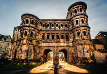 The Porta Nigra (Black Gate) In Trier City, Germany