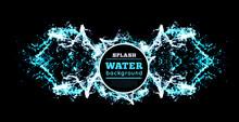Blue Water Splash Isolated On ...