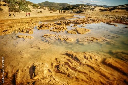 Piscinas  Le dune di Piscinas, situate nel territorio di Arbus, sono le dune   seconde più alte d'Europa Canvas Print