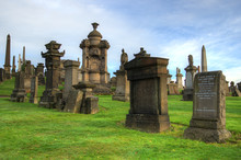 The Glasgow Necropolis, Victorian Gothic Cemetery, Scotland, UK..