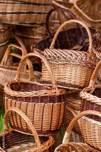 Fotografía  Handmade wicker basket