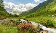 Panorama einer Alpenlandschaft