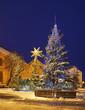 Nativity scene on Small Market square in Torun. Poland
