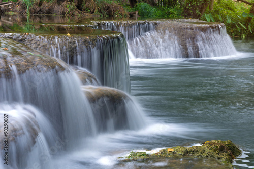 Fototapeten Wasserfalle Waterfall in rain forest at national park