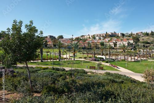 Fotobehang Midden Oosten Mediterranean style city park Israel