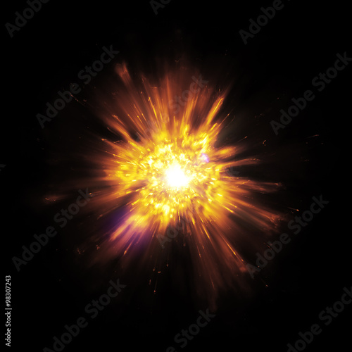 Fotomural big bang explosion with sparks