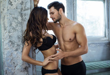 Emotional Photo Of Young Couple In Underwear