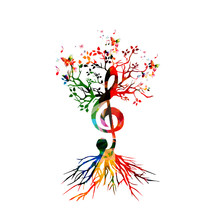 Colorful Background With Music...