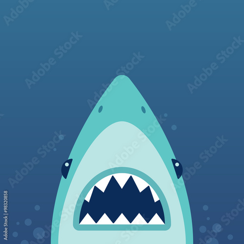 Shark attack illustration Canvas-taulu