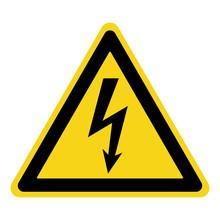 High Voltage Sign. Danger Symb...