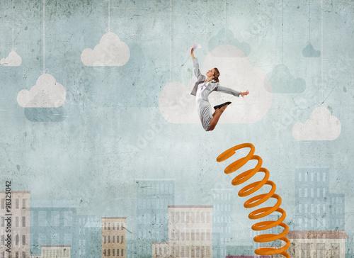 Fotomural She did great career jump