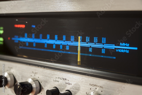 Vintage Stereo Receiver - Buy this stock photo and explore