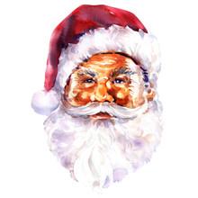 Face Of Santa Claus, Christmas Card