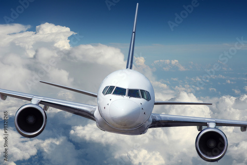 Commercial Airliner during flight - 98328265