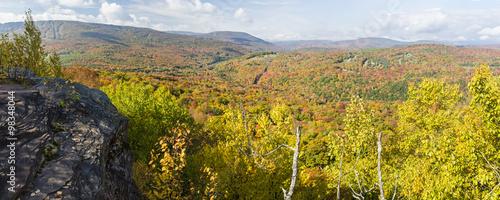 Catskills Ledge Peak Color Panorama Canvas Print