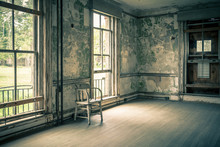 Empty Abandoned Room With Chair