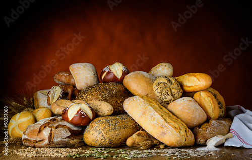 obraz dibond bread and buns