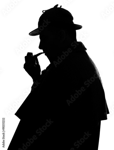 Photo Sherlock Holmes silhouette famous detective