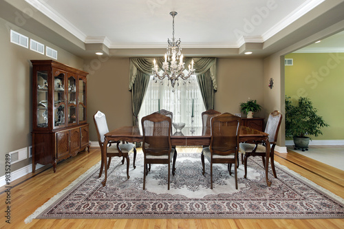 Fotomural  Dining room with large carpet