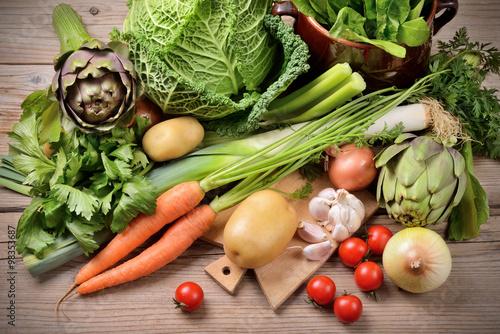 Fototapeta Mixed vegetables obraz na płótnie
