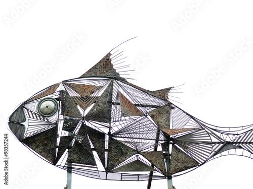 Fotografie, Obraz  Struttura di pesce in ferro