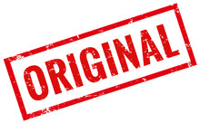 Stempel Grunge Rot Original