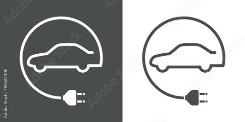 Fotografía  Icono plano vehiculo electrico #1