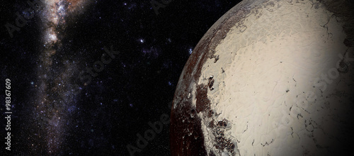 The Pluto shot from space showing all they beauty фототапет