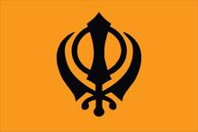 Vector Of Sikhism Flag