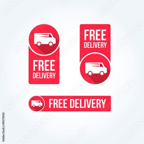 Free Delivery Labels