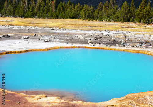 Staande foto Turkoois Yellowstone