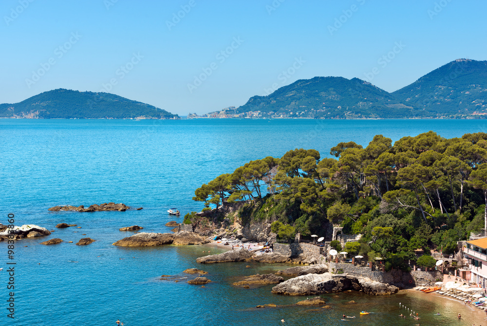 Photo Art Print Fiascherino Beach Golfo Dei Poeti Liguria Near Lerici La Spezia In The Gulf Of Poets Or