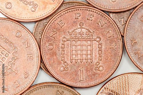 Cuadros en Lienzo Monedas de centavo Britsh