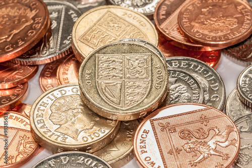 Pile of British Coins - Buy this stock photo and explore similar