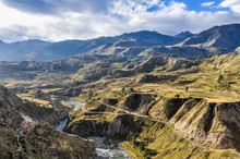Panoramic View In The Colca Ca...