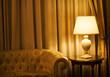 lamp in a luxury hotel