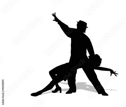 Obrazy na płótnie Canvas dancers silhouette
