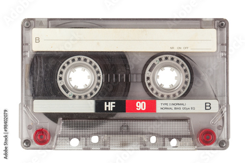 Canvas Print Vintage transparent cassette