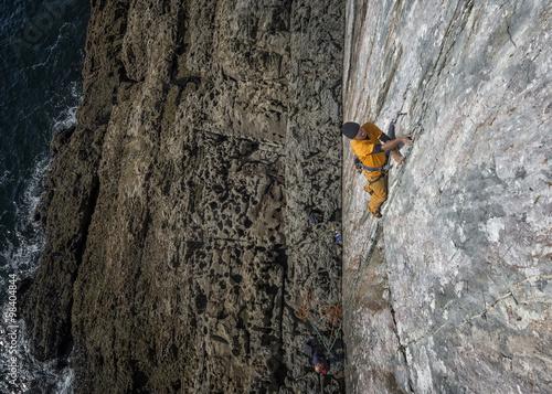 United Kingdom, Pembroke, Mother Carey's Kitchen, Rock climbing