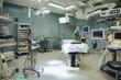 Operating room nurse preparing surgery room