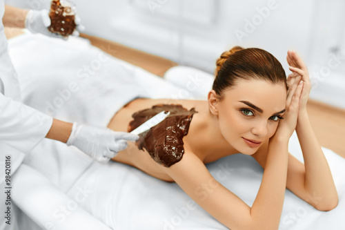 Poster  Body Care. Spa Beauty Treatment. Cosmetic Mask. Skin Care.