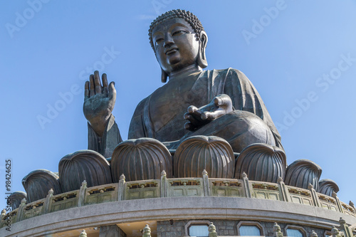 Photo  Tian Tan Big Buddha at Po Lin Monastery on Lantau Island, Hong  Kong