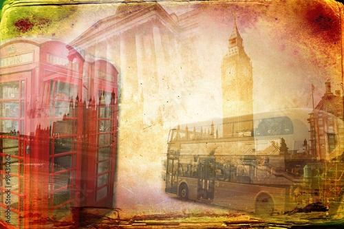 Fototapeta London art design illustration