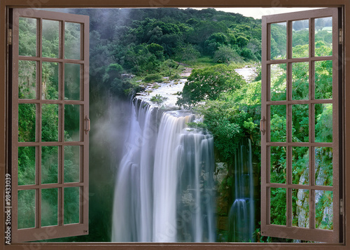 Open window view to Magwa Falls Cape Province South Africa