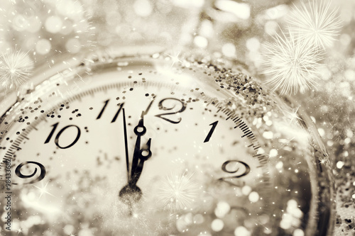 Old watch pointing midnight - New Year concept Fototapeta